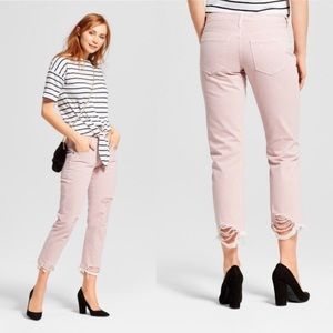 Low Rise Destroyed Cropped Boyfriend Jeans 💗